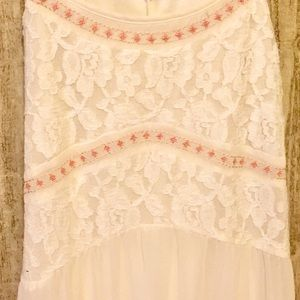 Gorgeous cream colored long flowing dress